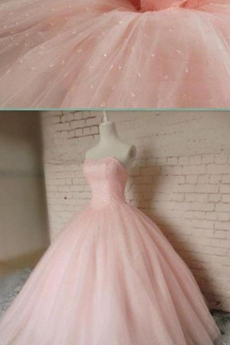 Blush Pink Prom Dresses,Ball Gown Prom Dress,Tulle Prom Dress,Simple Prom Dress,Tulle Prom Dress,Simple Evening Gowns,Cheap Party Dress,Elegant Prom Dresses,Formal Gowns For Teens PD20187302