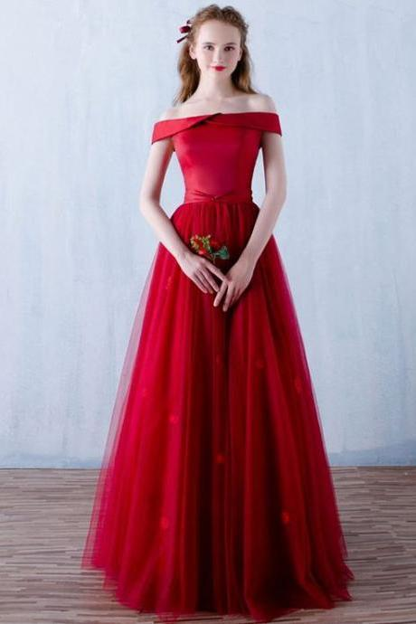 Red Prom Dresses,2018 Prom Dress,Prom Dress,Off The Shoulder Prom Dresses,Formal Gown,Sexy Evening Gowns,Red Party Dress,Prom Gown For Teens PD20187498