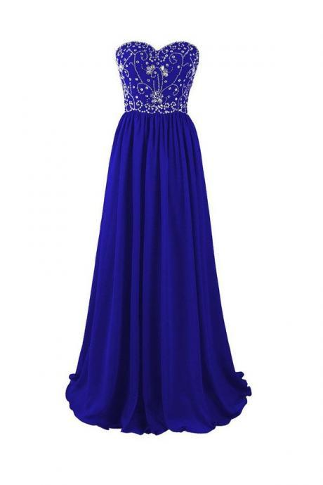 Prom Gown,Royal blue Prom Dresses,Evening Gowns,Formal Dresses,Royal blue Prom Dresses PD20187541