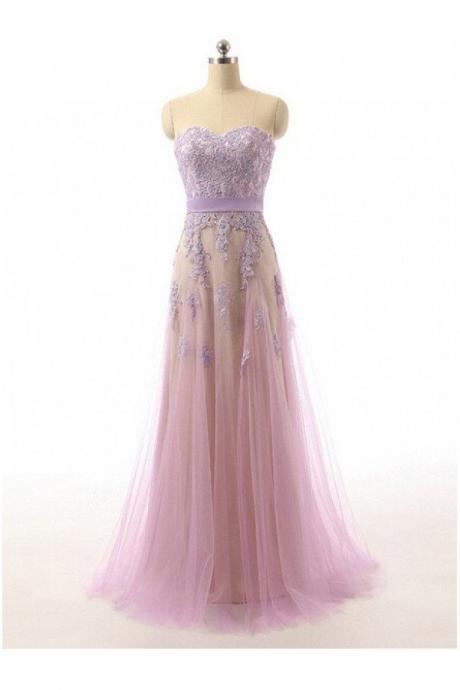 Prom Dresses,Lace Sweetheart Tulle Prom Dresses Evening Dresses PD20187543