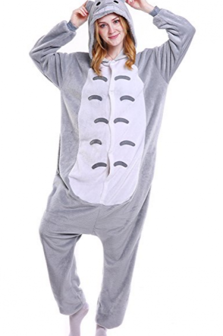 Grilong Halloween Totoro Onesie Costume Unisex-adult Animals Totoro Pajama
